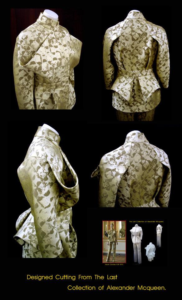 ผลงานการสร้างแพทเทิร์นชุดแจ็คเก็ตกางเกง Alexander McQueen