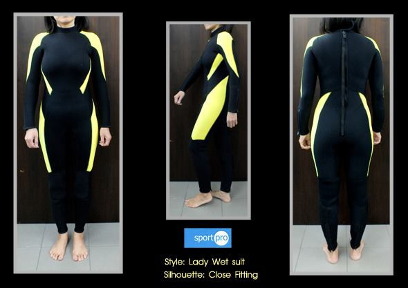 ผลงานการสร้างแพทเทิร์นชุดดำน้ำสตรี-ตัดเฉพาะบุคคล