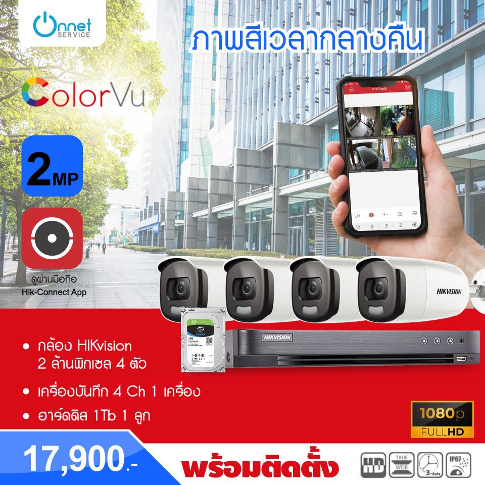 โปรโมชั่นกล้อง HIKvision 2 ล้านพิกเซล 4 ตัว