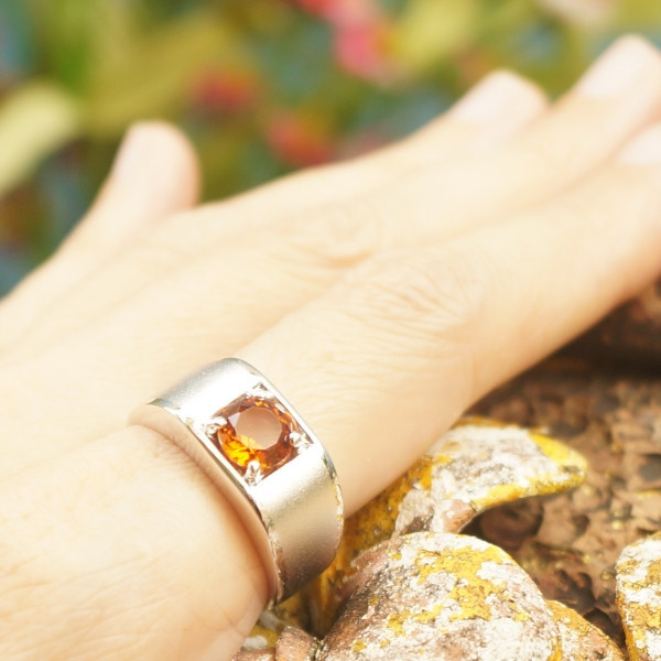 แหวนพลอยซิทรินแท้ SR491