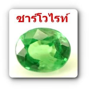 พลอยซาร์โวไรท์-โกเมนแท้สีเขียว