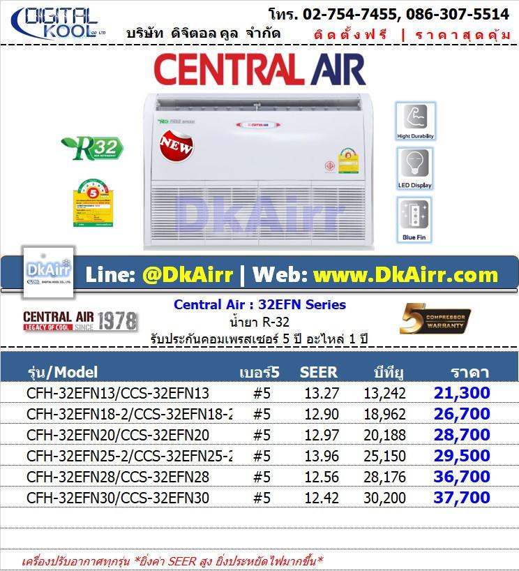Central Air รุ่น CFH-32EFN (32EFN) แอร์ตั้ง-แขวน Fix speed เบอร์5 (R32) รุ่นใหม่