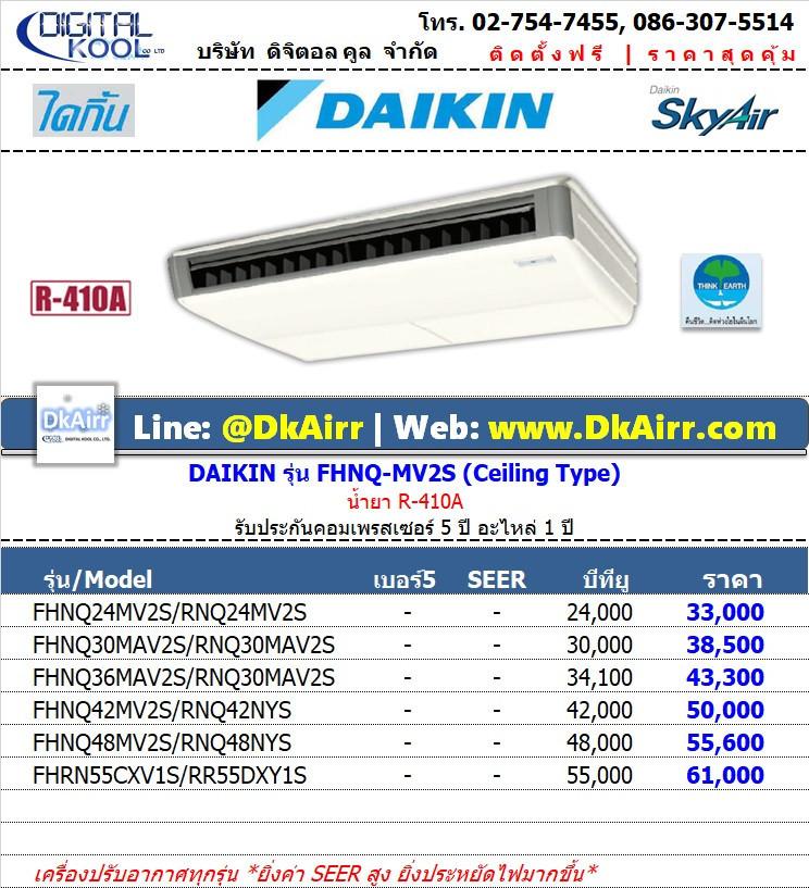 Daikin_FHNQ24-48MV2S,FHRN55 แอร์แขวนใต้ฝ้า (Ceiling) (R410A)