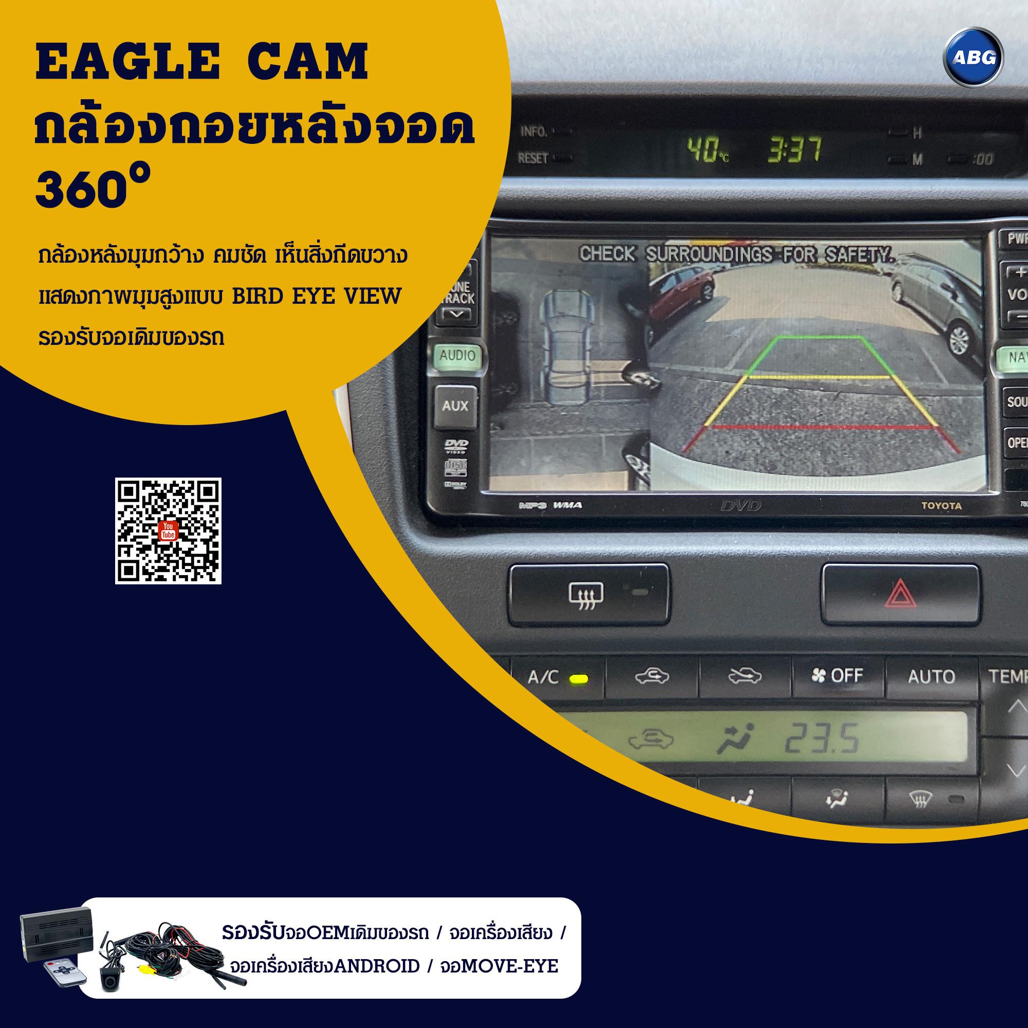 กล้องมองหลังสำหรับถอย แบบ 360 องศา มุมมองBIRD EYE VIEW