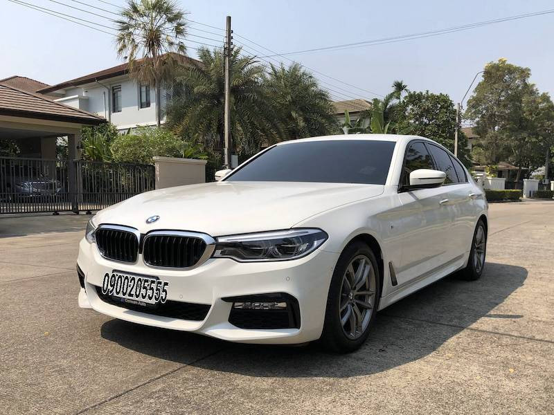 BMW 520d M-Sport Year 2019 White Color